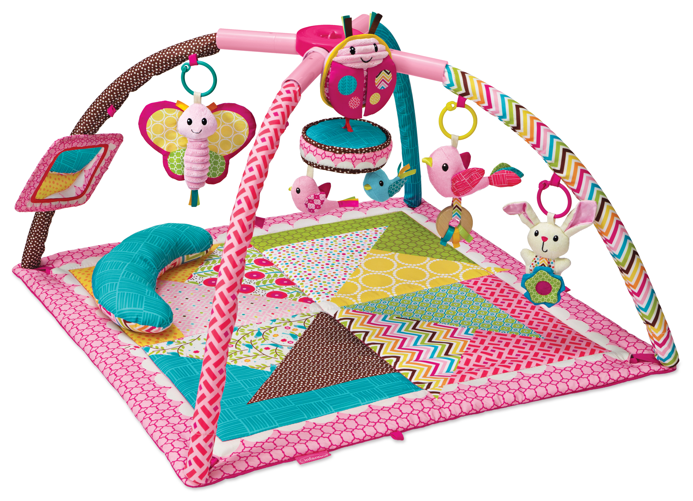 Infantino Twist and Fold Activity Gym Tummy Time Mat Baby Play Mat